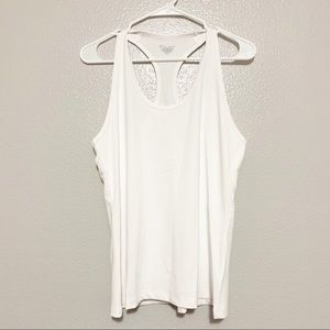 Champion Double Dry White Racerback Tank Top